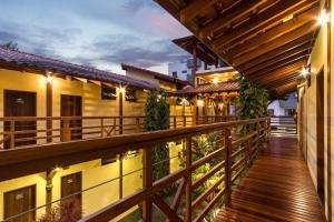 A balcony or terrace at Pousada Peixes do Mar