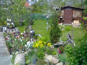A garden outside U Nikolaevny Guesthouse