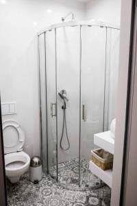 A bathroom at LvivSon Apartments