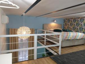 A bunk bed or bunk beds in a room at Tempo Life Apartman
