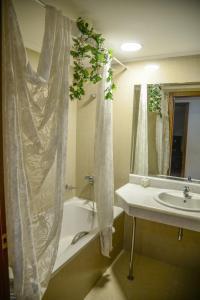 A bathroom at Arta Palace