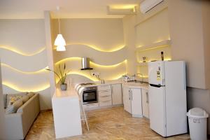 A cozinha ou cozinha compacta de Chalet Al Mas Kortoba