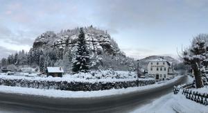 Hotel am Berg Oybin garni during the winter