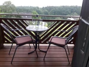 A balcony or terrace at Landhaus Dampf
