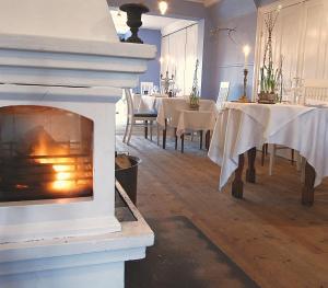 En restaurant eller et andet spisested på Nørre Vissing Kro