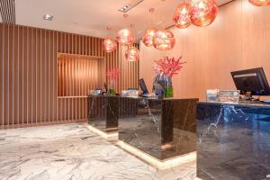 The lobby or reception area at Radisson Blu Hotel, Glasgow