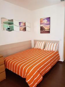 Cama o camas de una habitación en Benalmadena Iris apartment sea view
