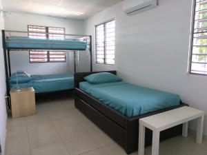 A bunk bed or bunk beds in a room at Urban Terrace Apartment in San Juan