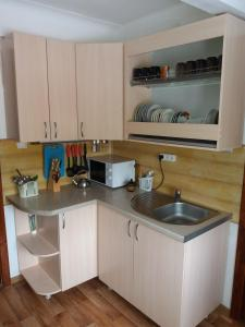 """A kitchen or kitchenette at """"Визит, как дома"""""""