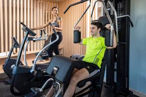 The fitness center and/or fitness facilities at Hotel Grand Brizo Buenos Aires