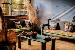 A seating area at Hotel Acuali Nuqui