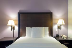 A bed or beds in a room at La Quinta by Wyndham Springfield Airport Plaza