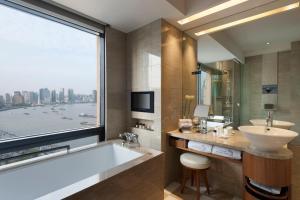 A bathroom at Les Suites Orient, Bund Shanghai