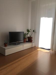 A television and/or entertainment centre at new design apartment