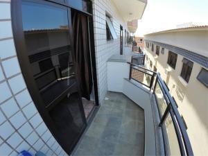 A balcony or terrace at Praia Linda Hospedagem