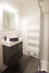 A bathroom at Alte Bäckerei