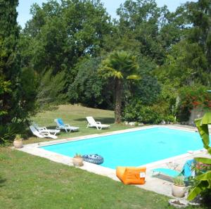 The swimming pool at or near Domaine du Garret