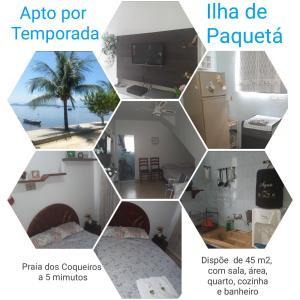 The floor plan of Apto Temporada na Ilha de Paquetá