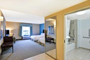A television and/or entertainment center at Hampton Inn & Suites Wilkes-Barre