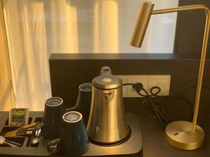 Een keuken of kitchenette bij Hotel New Kit