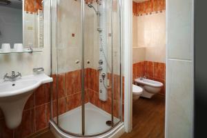 A bathroom at Hotel Ankora