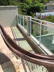 A balcony or terrace at Casa de aluguel