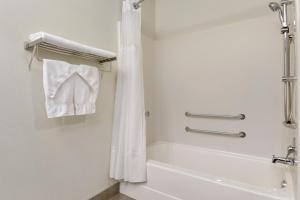 A bathroom at Days Inn by Wyndham Levis