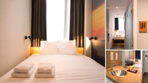 Ένα ή περισσότερα κρεβάτια σε δωμάτιο στο Citiez Hotel Amsterdam