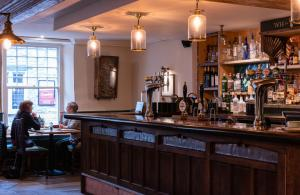 The lounge or bar area at White Hart Inn