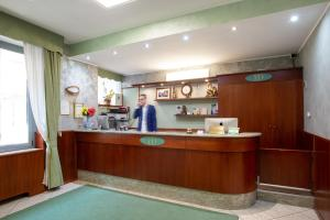 The lobby or reception area at Hotel Dorè