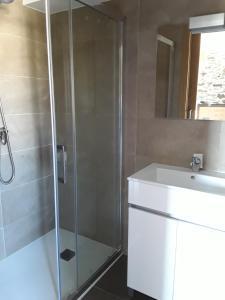A bathroom at Pension Albergue Alborada