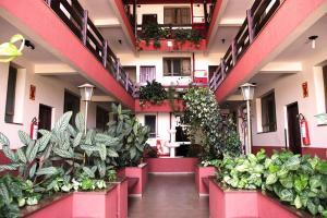 The lobby or reception area at Hotel São Lucas