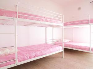 A bunk bed or bunk beds in a room at The 17 Hostel
