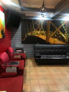 The lobby or reception area at European Hostel