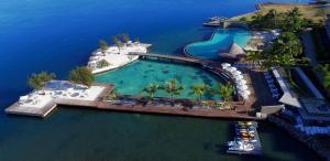 A bird's-eye view of Manava Suite Resort Tahiti