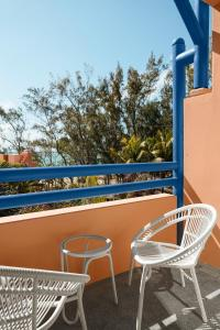 A balcony or terrace at SALT of Palmar, an adult-only boutique hotel