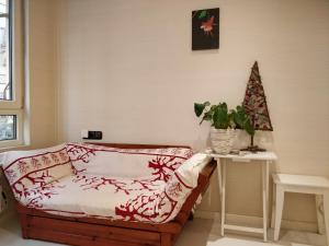 Een bed of bedden in een kamer bij Pensión Easo
