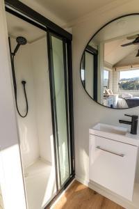 A bathroom at Yarra Valley Tiny House