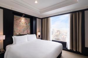 曼谷悅榕莊酒店房間的床