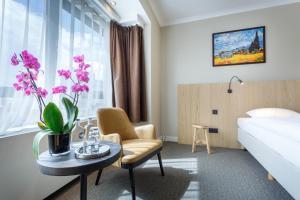 Een zitgedeelte bij Hotel Carlton