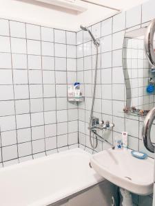 A bathroom at Apartment on Yulius Fucik