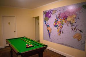 A pool table at Port Macquarie Backpackers