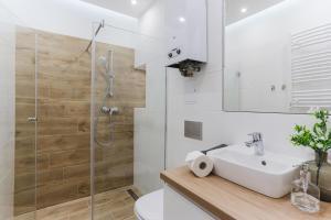 A bathroom at Central Apartments Piwna