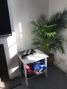 A television and/or entertainment center at Croxley House