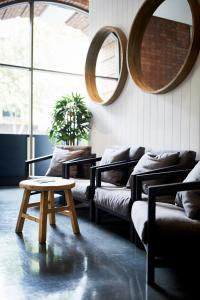 A seating area at Wake Up! Sydney Central