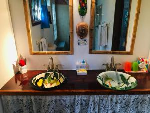 A bathroom at Coral Hill Bungalows