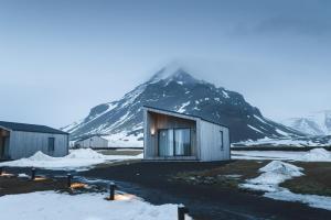 Arnarstapi Cottages during the winter