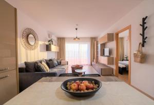 O zonă de relaxare la ZEN Apartments Cluj