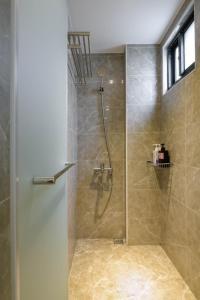 A bathroom at One Attic B&B