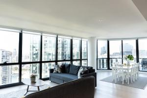 A seating area at Melbourne Private Apartments - Collins Street Waterfront, Docklands